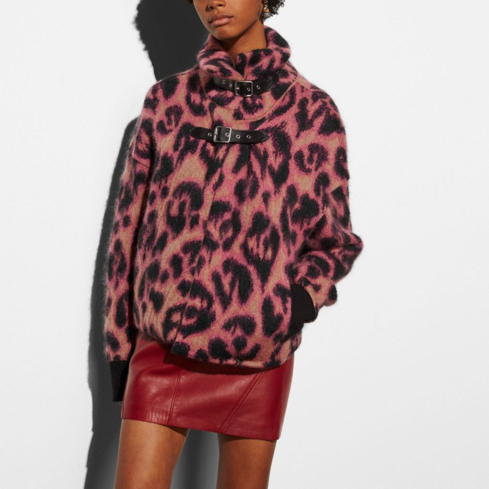 WILD BEAST CROPPED SWEATER COAT - Alternate View