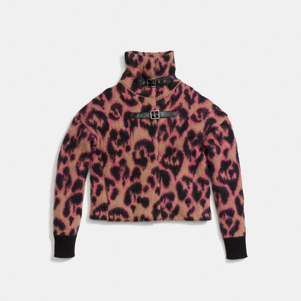 Wild Beast Cropped Sweater Coat - Alternate View A1