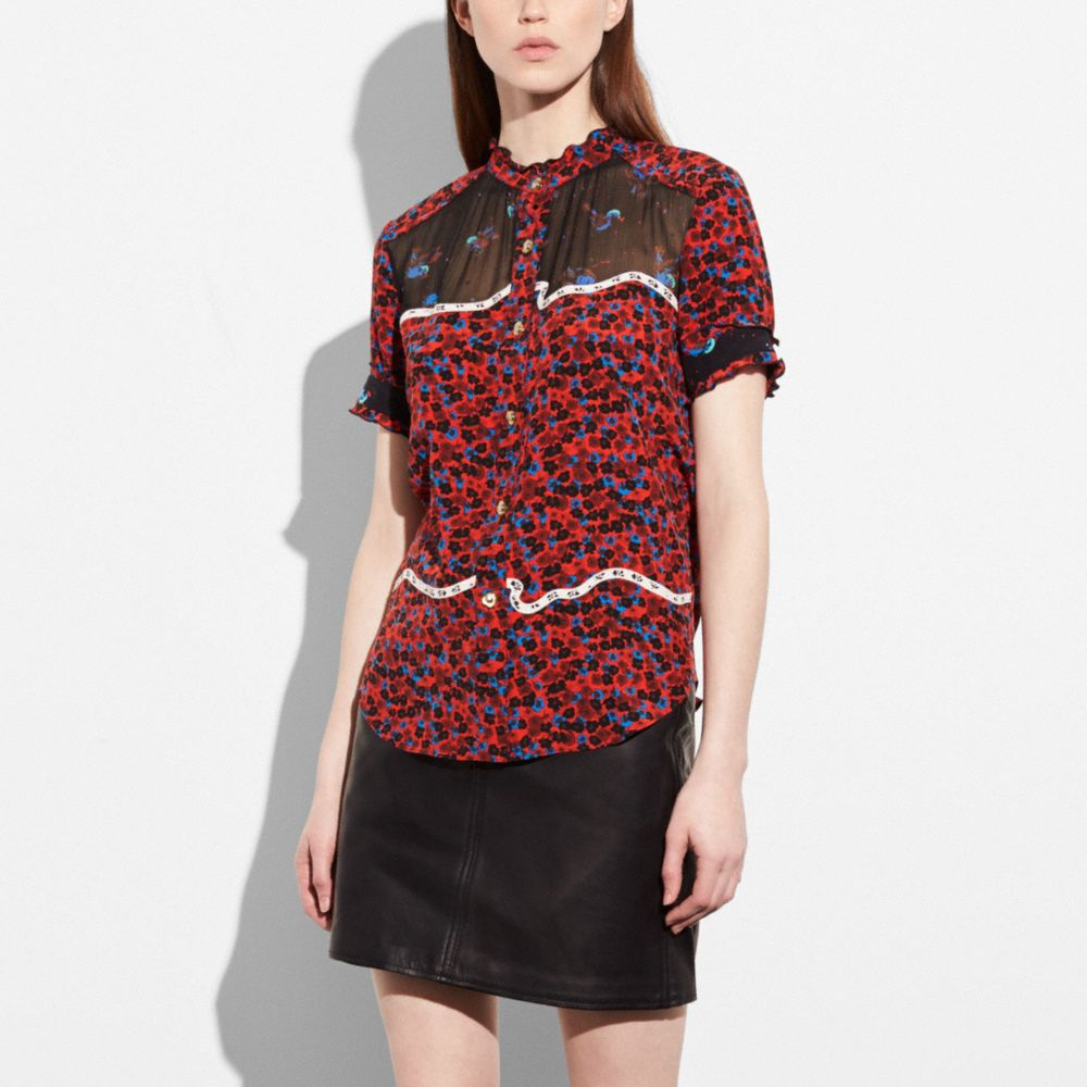 PATCHWORK BLOUSE - Alternate View
