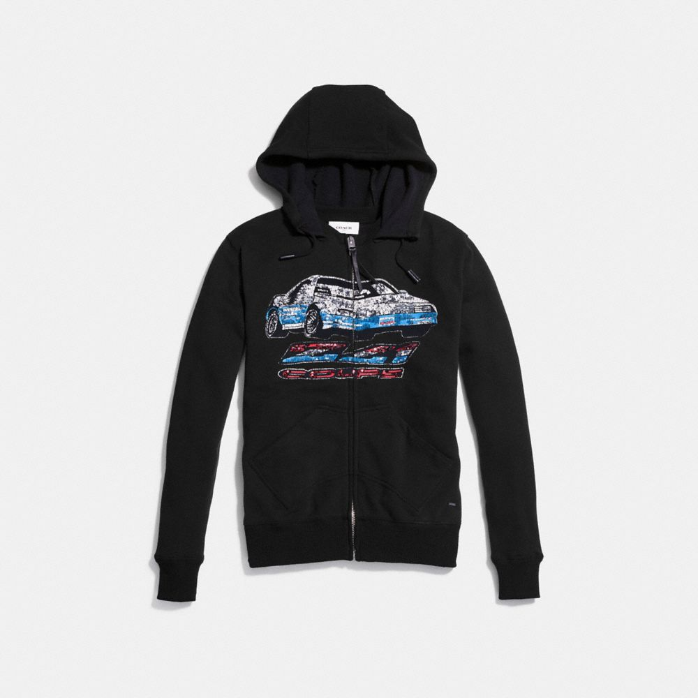 Car Print Hoodie - Alternate View A1