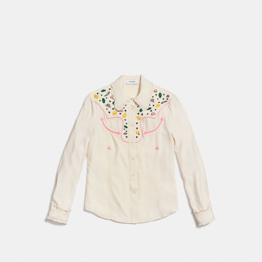 Coach Western Shirt With Embellishment Alternate View 1