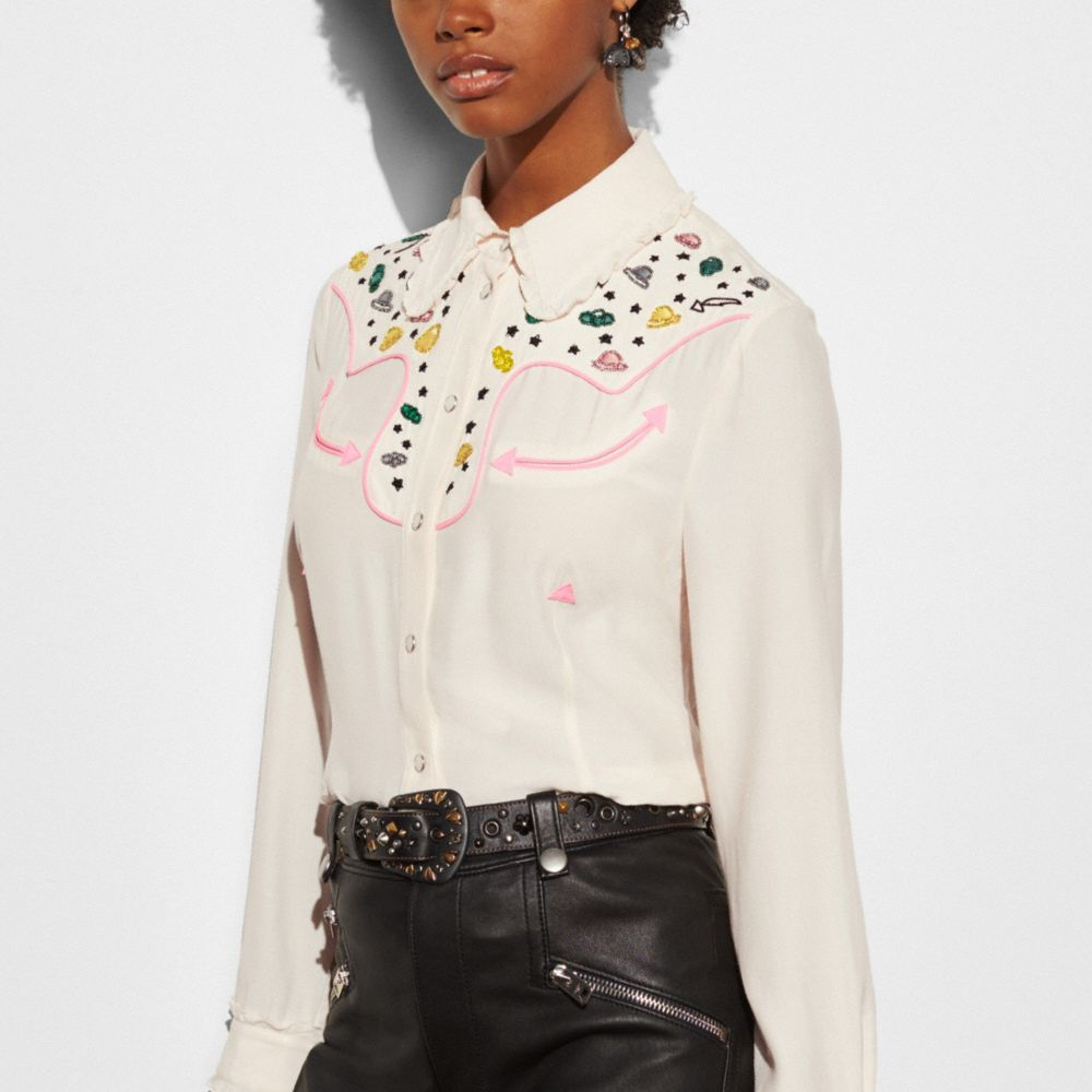 Western Shirt With Embellishment - Alternate View M1