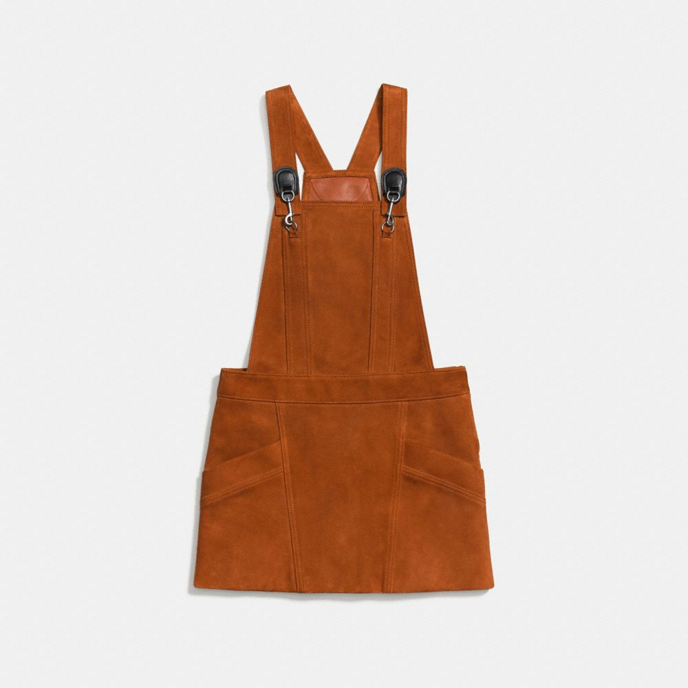 Suede Pinafore Dress - Alternate View A1