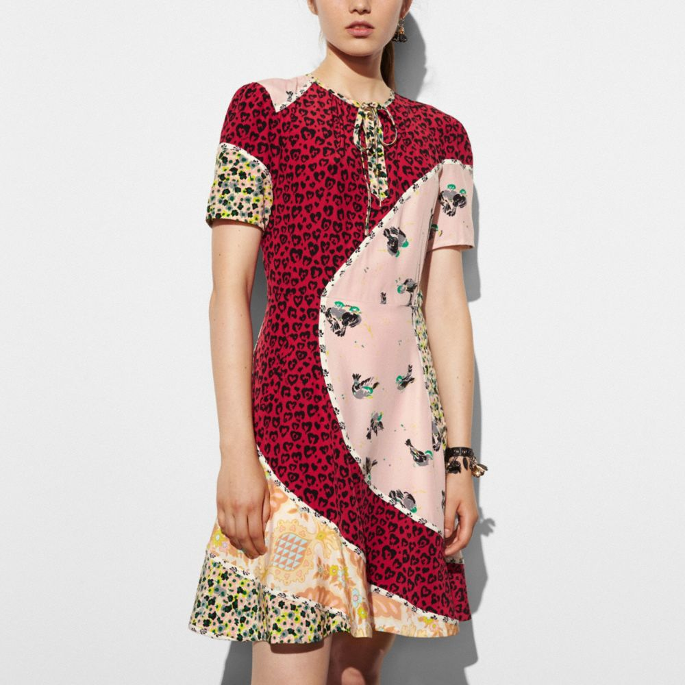 Circular Patchwork Dress - Alternate View M