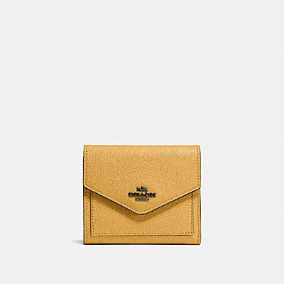 十字紋皮革小型皮夾
