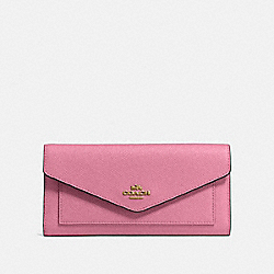 TRIFOLD WALLET - B4/ROSE - COACH 58299