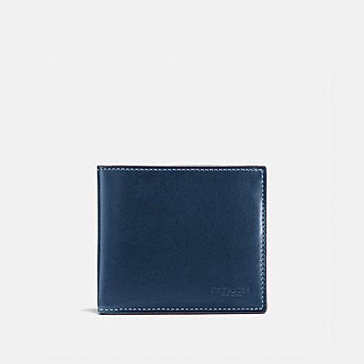 水牛壓紋皮革雙鈔票皮夾