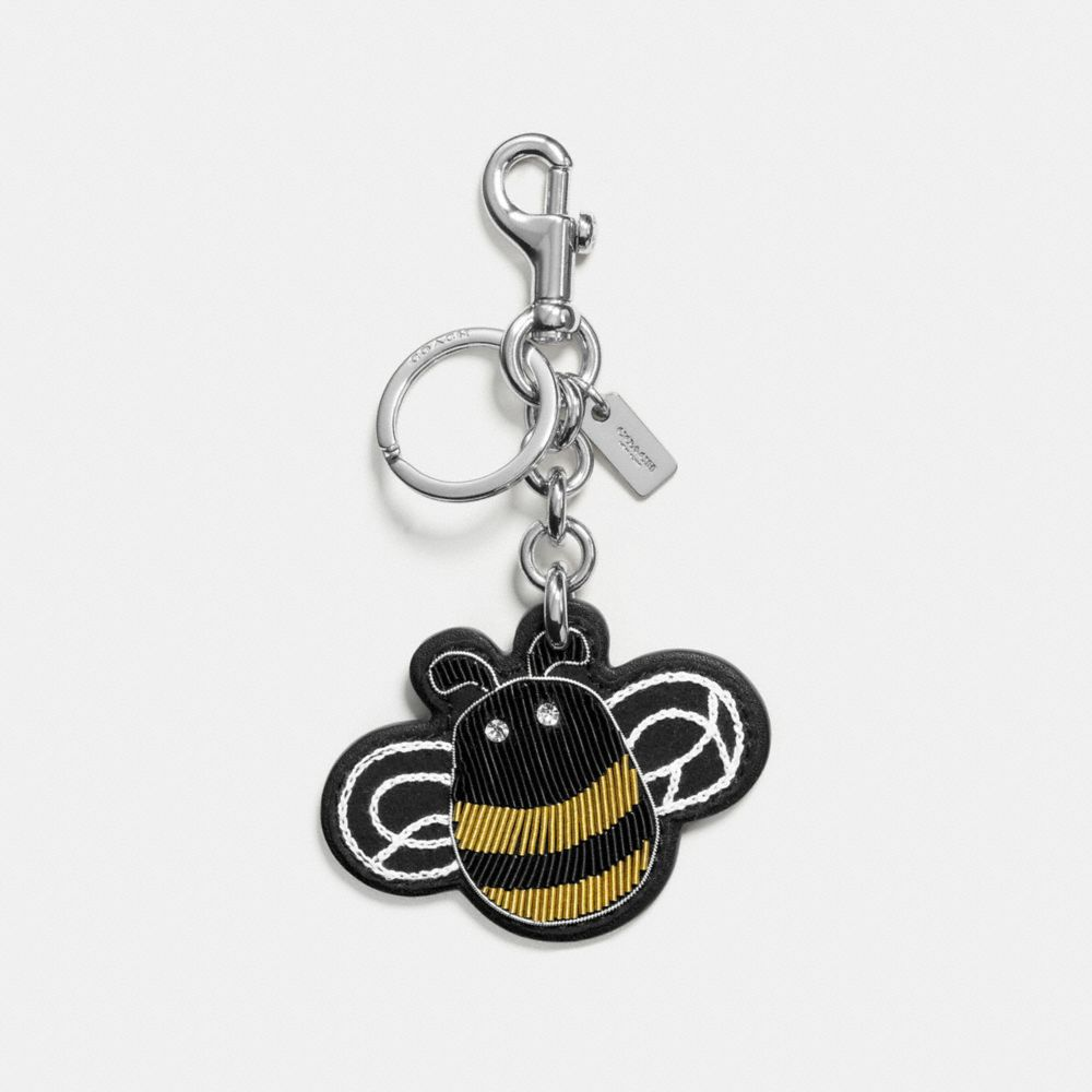 Coach Embroidered Bee Bag Charm