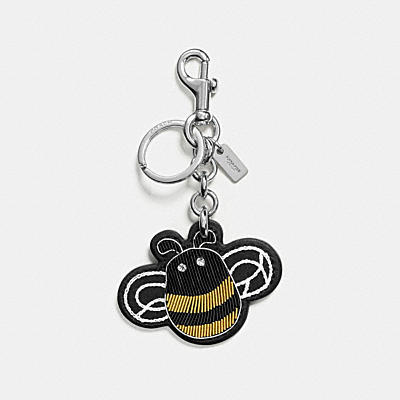 EMBROIDERED BEE BAG CHARM