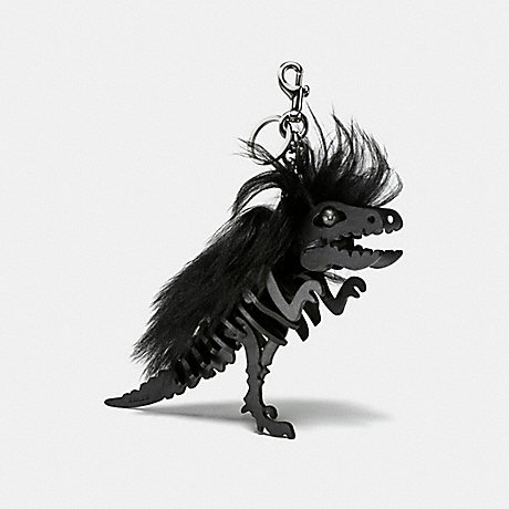 COACH MEDIUM MOHAWK REXY BAG CHARM - BK/BLACK - 58498
