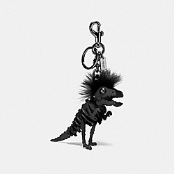 SMALL MOHAWK REXY BAG CHARM - BK/BLACK - COACH 58499
