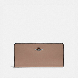 SKINNY WALLET - LH/TAUPE - COACH 58586