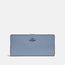 SKINNY WALLET - V5/BLUEBELL - COACH 58586