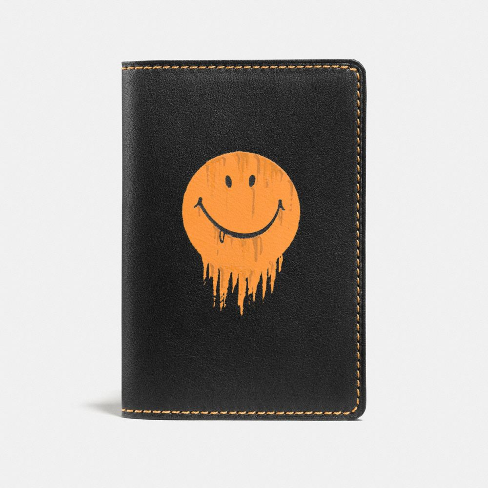 CARD WALLET IN GLOVETANNED LEATHER WITH GNARLY FACE PRINT - Alternate View