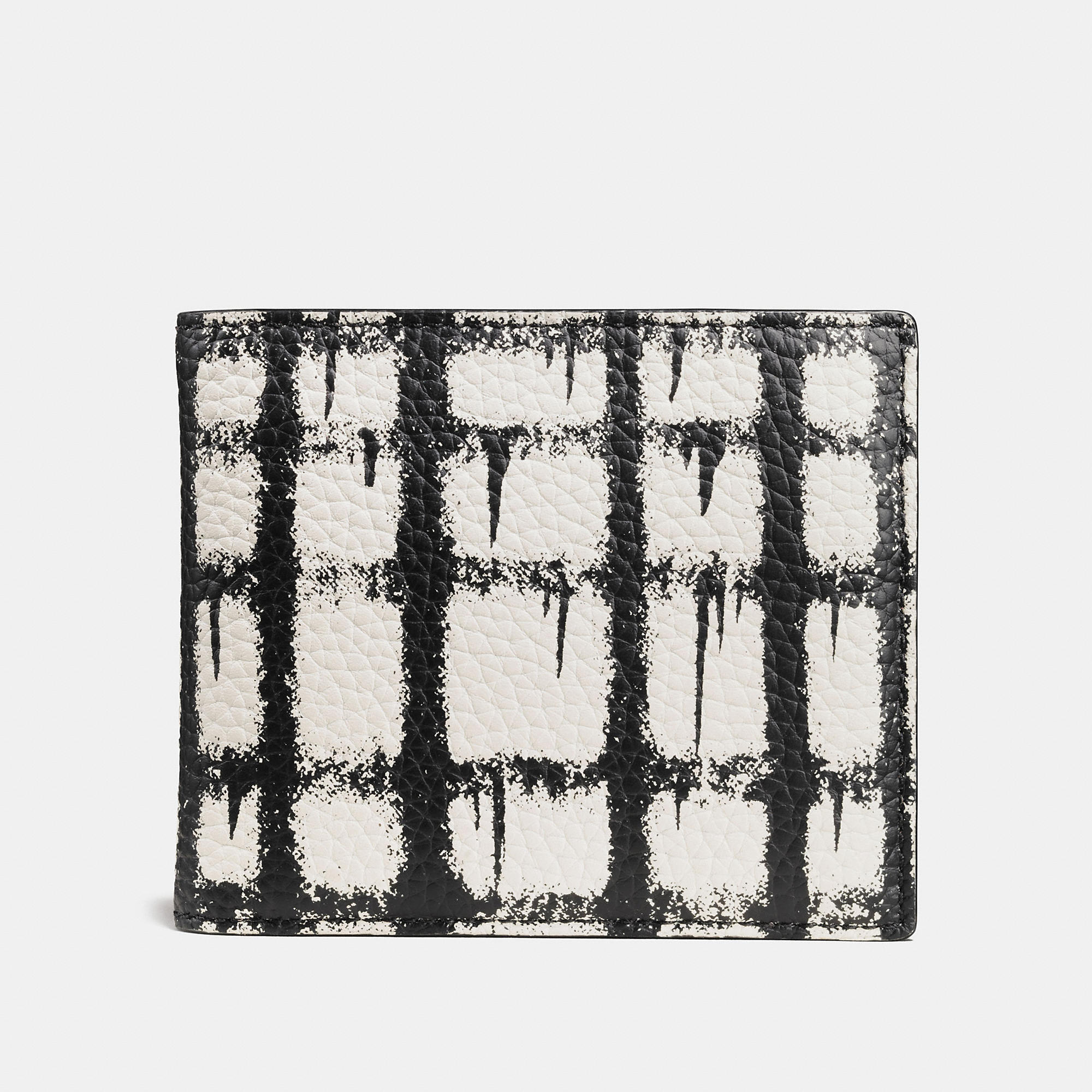 Coach 3-in-1 Wallet In Pebble Leather With Wild Plaid Print