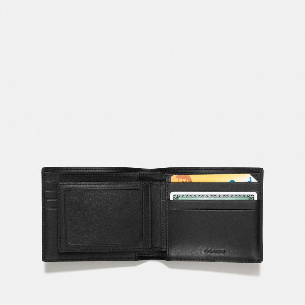 Coach 3-In-1 Wallet in Pebble Leather With Wild Plaid Print Alternate View 2