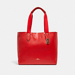 DERBY TOTE - IM/BRIGHT POPPY - COACH 58660