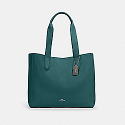 DERBY TOTE - SV/DARK TURQUOISE/MIDNIGHT - COACH 58660
