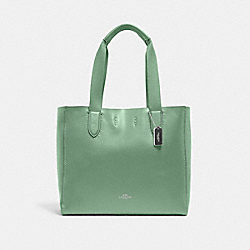 DERBY TOTE - SV/WASHED GREEN - COACH 58660