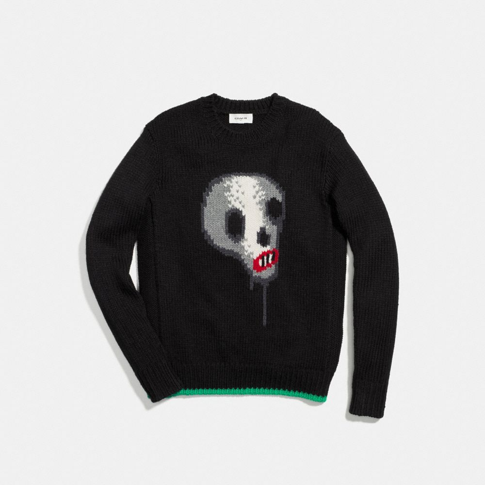 Skull Crewneck Sweater - Alternate View A1