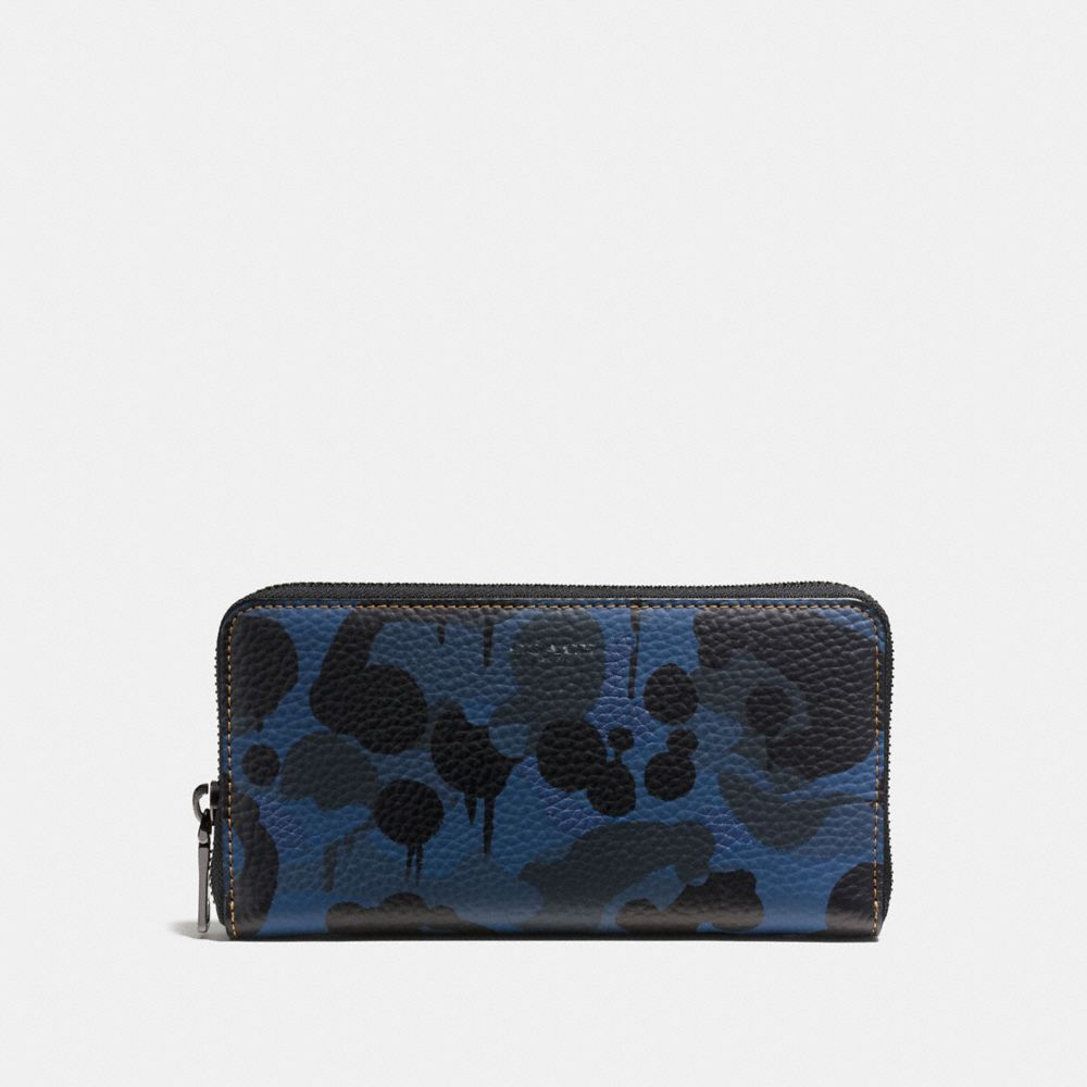 Coach Accordion Wallet With Denim Wild Beast Print