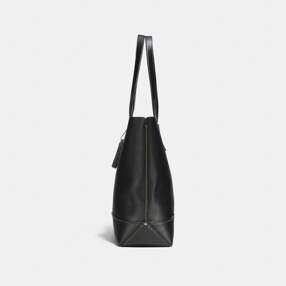 GOTHAM TOTE IN GLOVE CALF LEATHER WITH GNARLY FACE PRINT - Alternate View