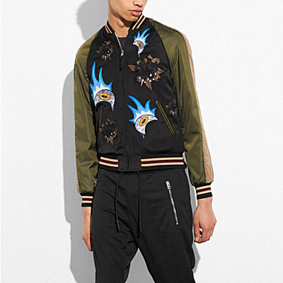 MOON AND SKULL SOUVENIR JACKET