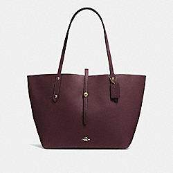 MARKET TOTE - GOLD/OXBLOOD - COACH 58849