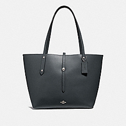 MARKET TOTE - MIDNIGHT NAVY/SILVER - COACH 58849