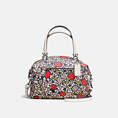 PRAIRIE SATCHEL IN FLORAL PRINT POLISHED PEBBLE LEATHER