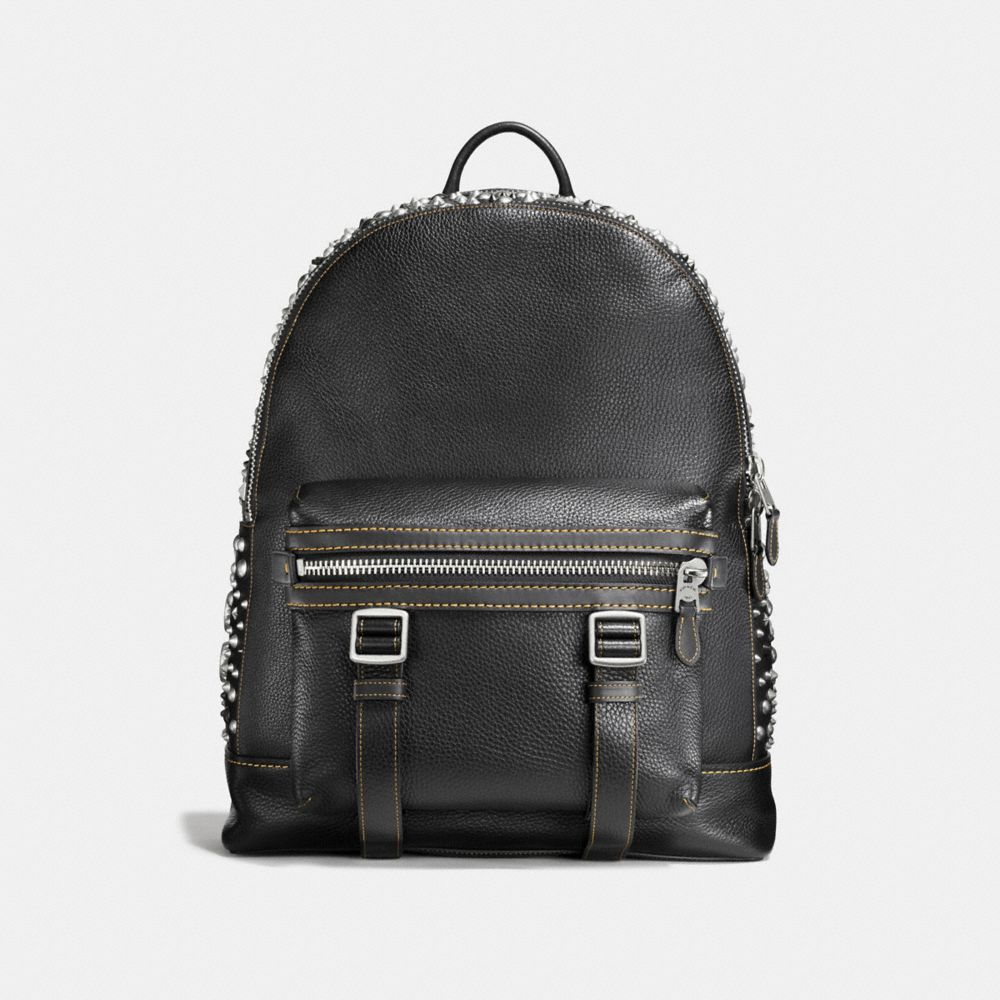 Coach Flag Backpack in Pebble Leather With Studs