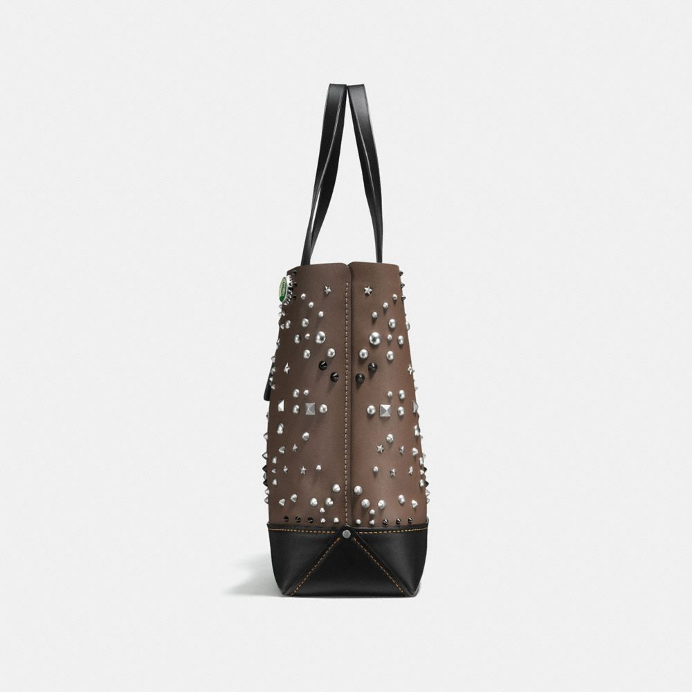 Gotham Tote in Glovetanned Leather With Studs - Alternate View A1