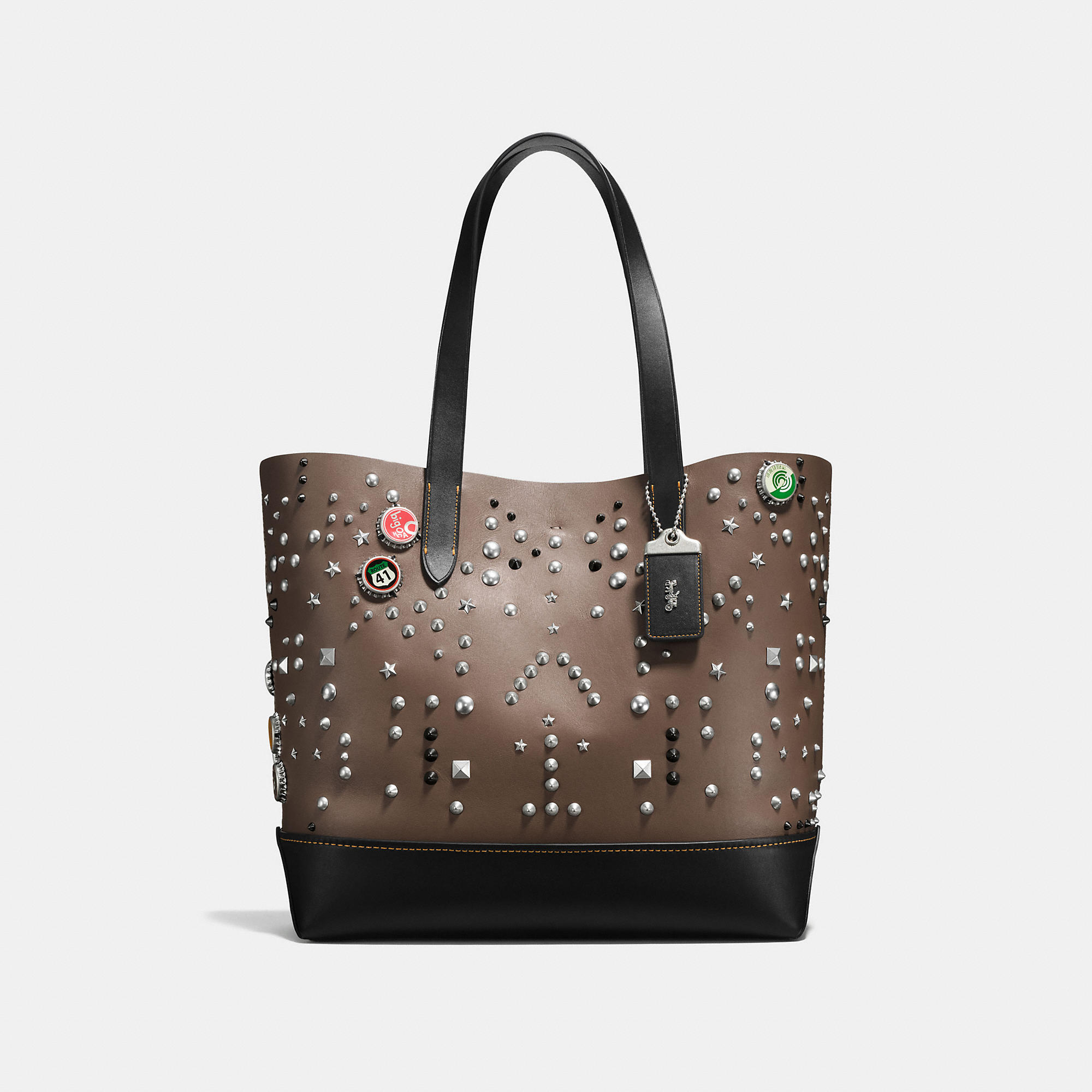 Coach Gotham Tote In Glovetanned Leather With Studs