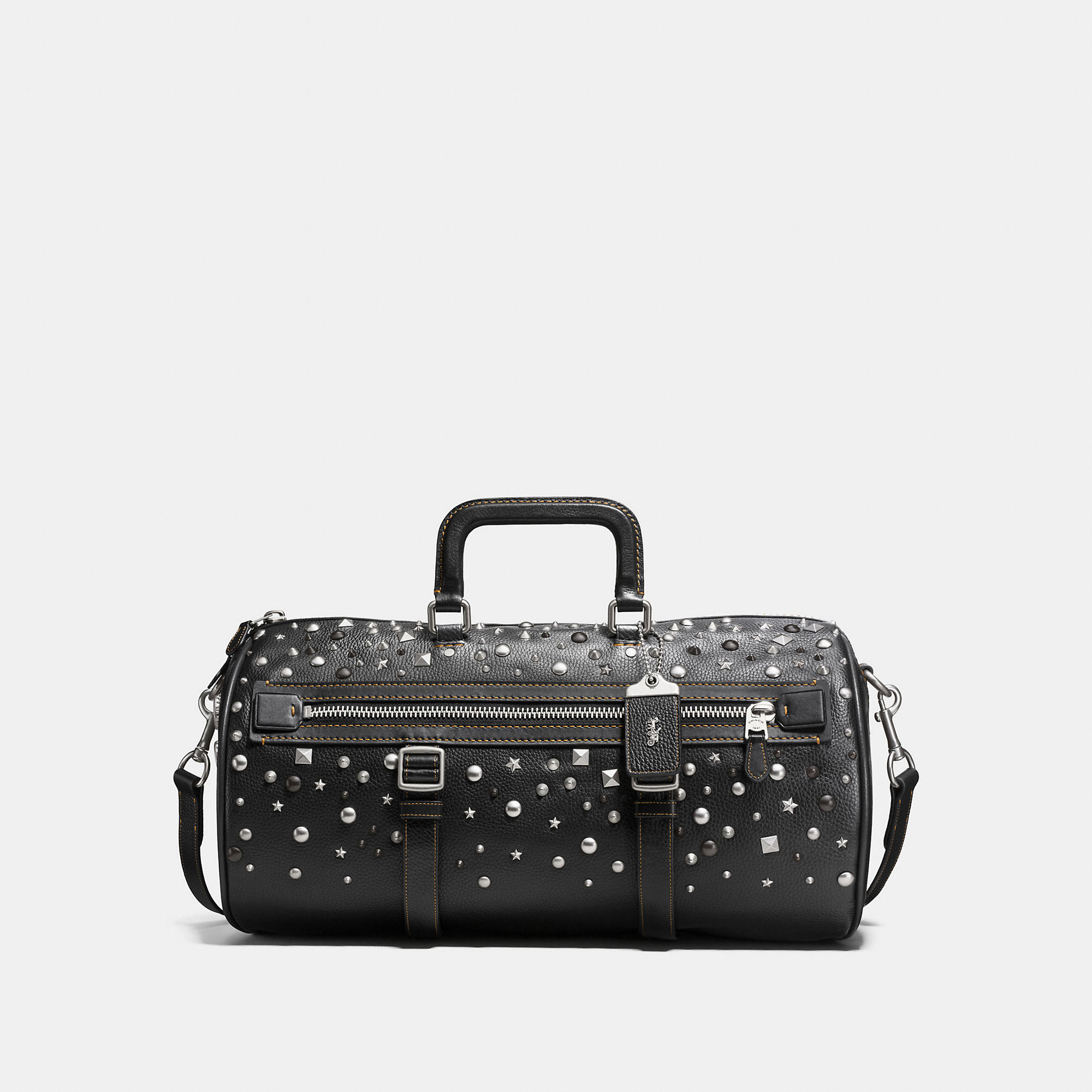 Coach Flag Gym Bag In Pebble Leather With Studs