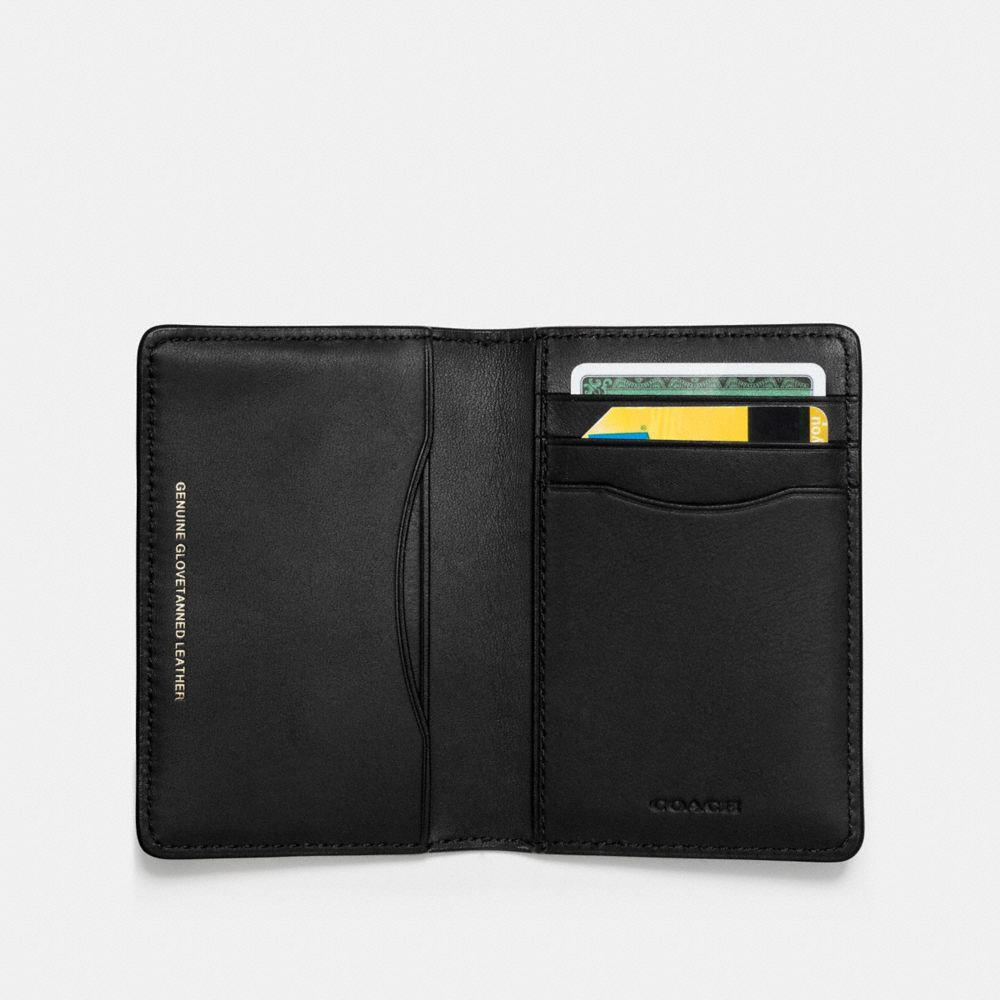 Card Wallet in Glovetanned Leather With Wild Car Print - Alternate View A1