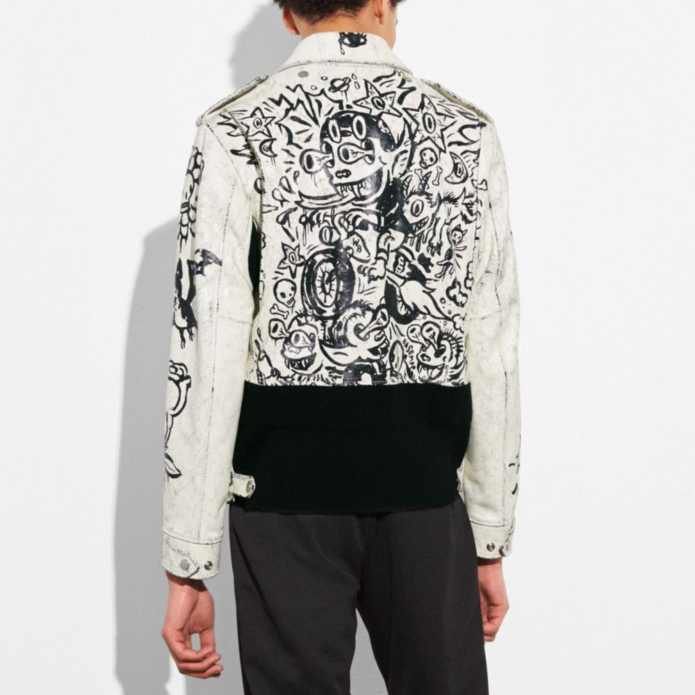 Coach Printed Officer Jacket Alternate View 3