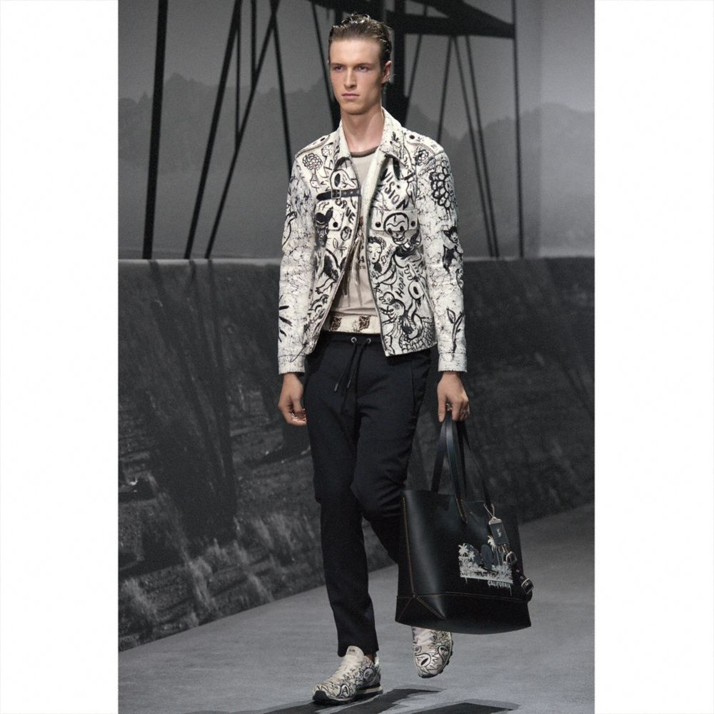 Coach Printed Officer Jacket Alternate View 5
