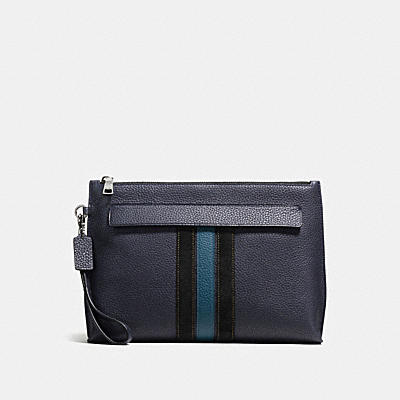 POUCH WITH VARSITY STRIPE