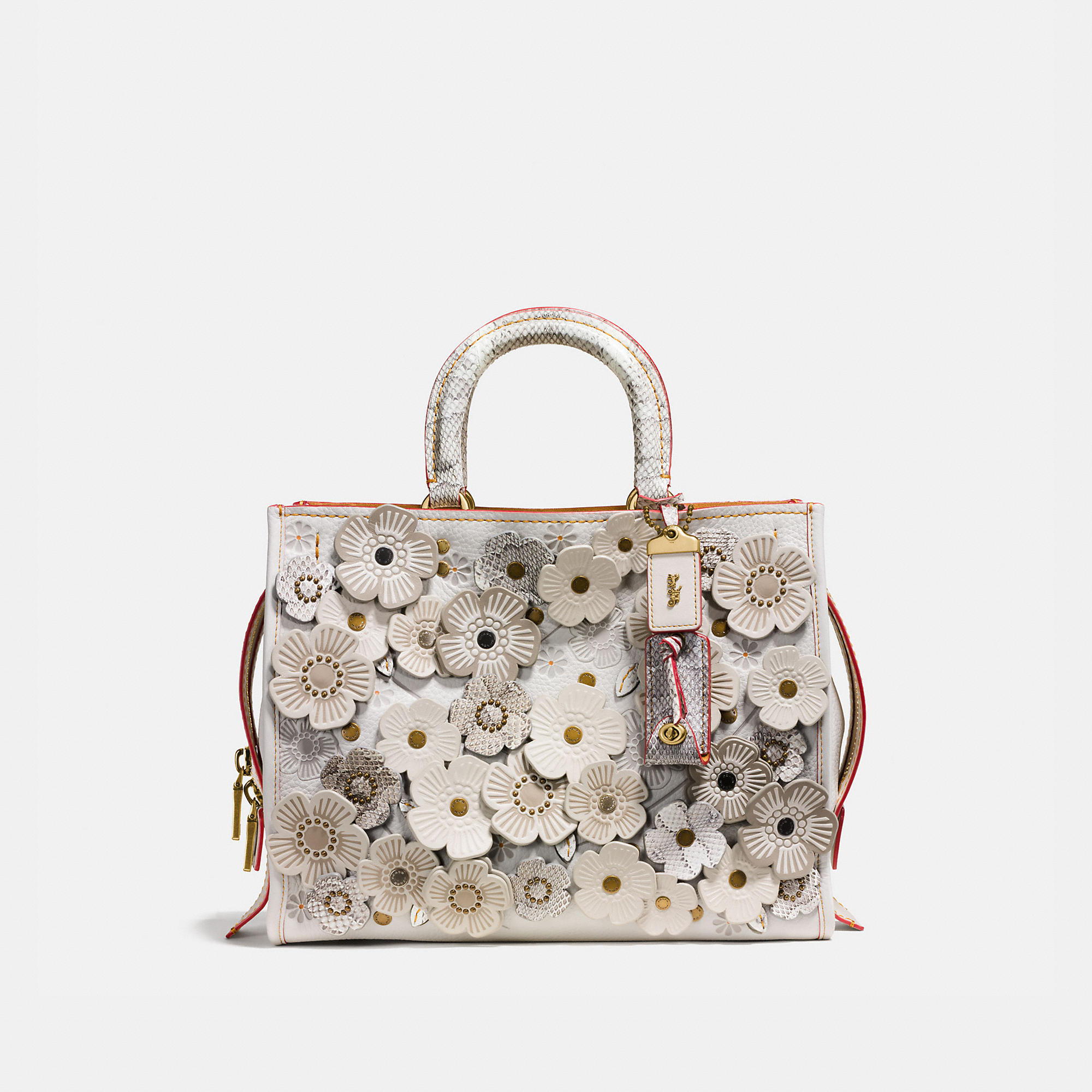 Coach Rogue In Glovetanned Leather With Exotic Tea Rose