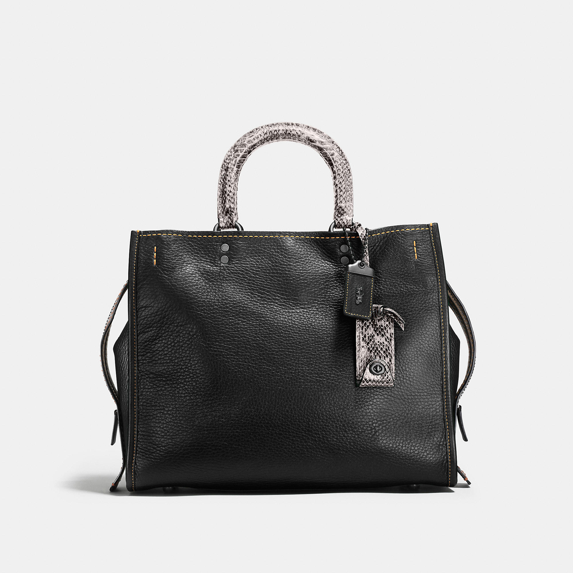 Coach Rogue In Glovetanned Pebble Leather With Colorblock Snake Detail