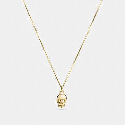 MINI 18K GOLD PLATED SKULL NECKLACE