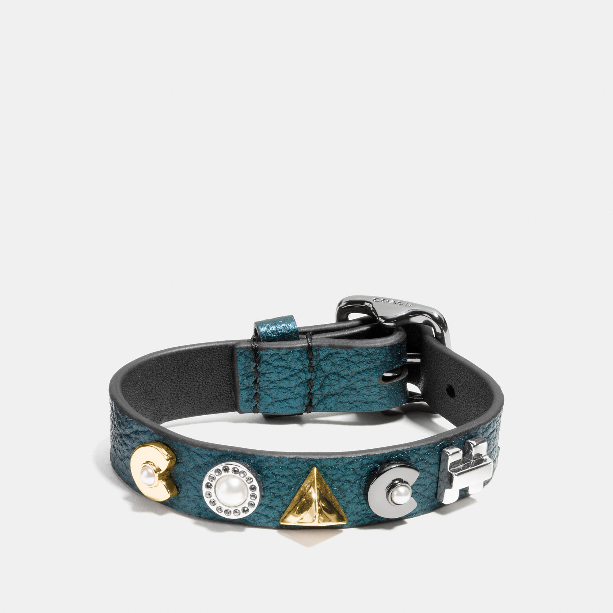 Coach Deco Leather Bracelet