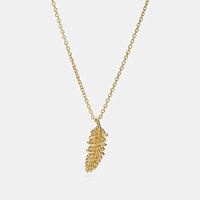 MINI 18K GOLD PLATED FEATHER NECKLACE