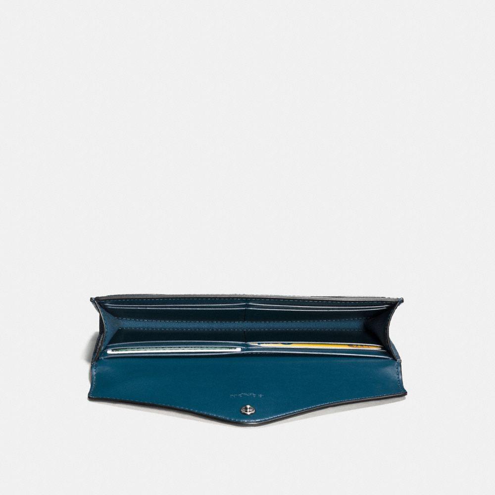 Coach Soft Wallet in Colorblock Snakeskin Alternate View 1