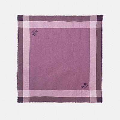 CHALLIS 金屬格紋圍巾