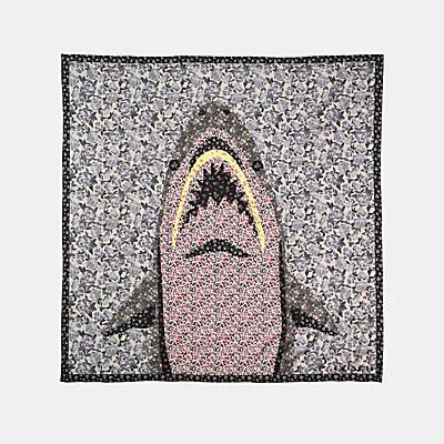 鯊魚玫瑰大尺寸方巾