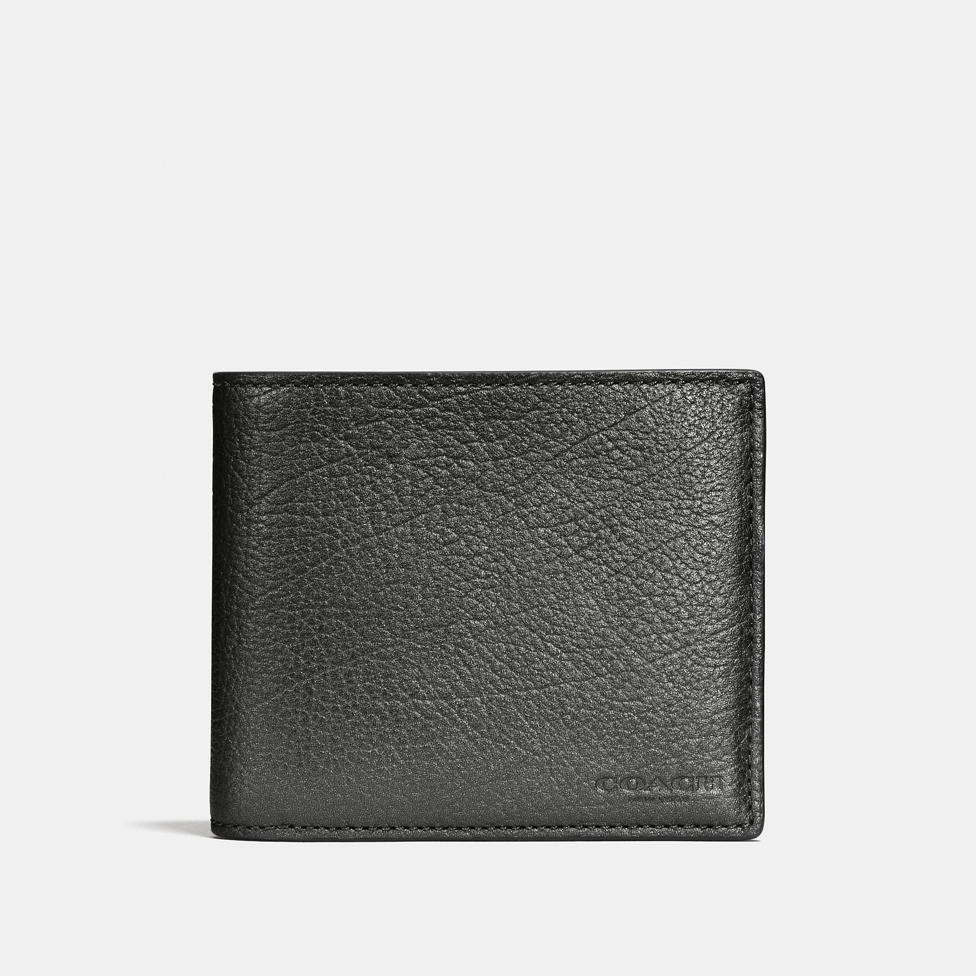Coach 3-in-1 Wallet In Metallic Leather