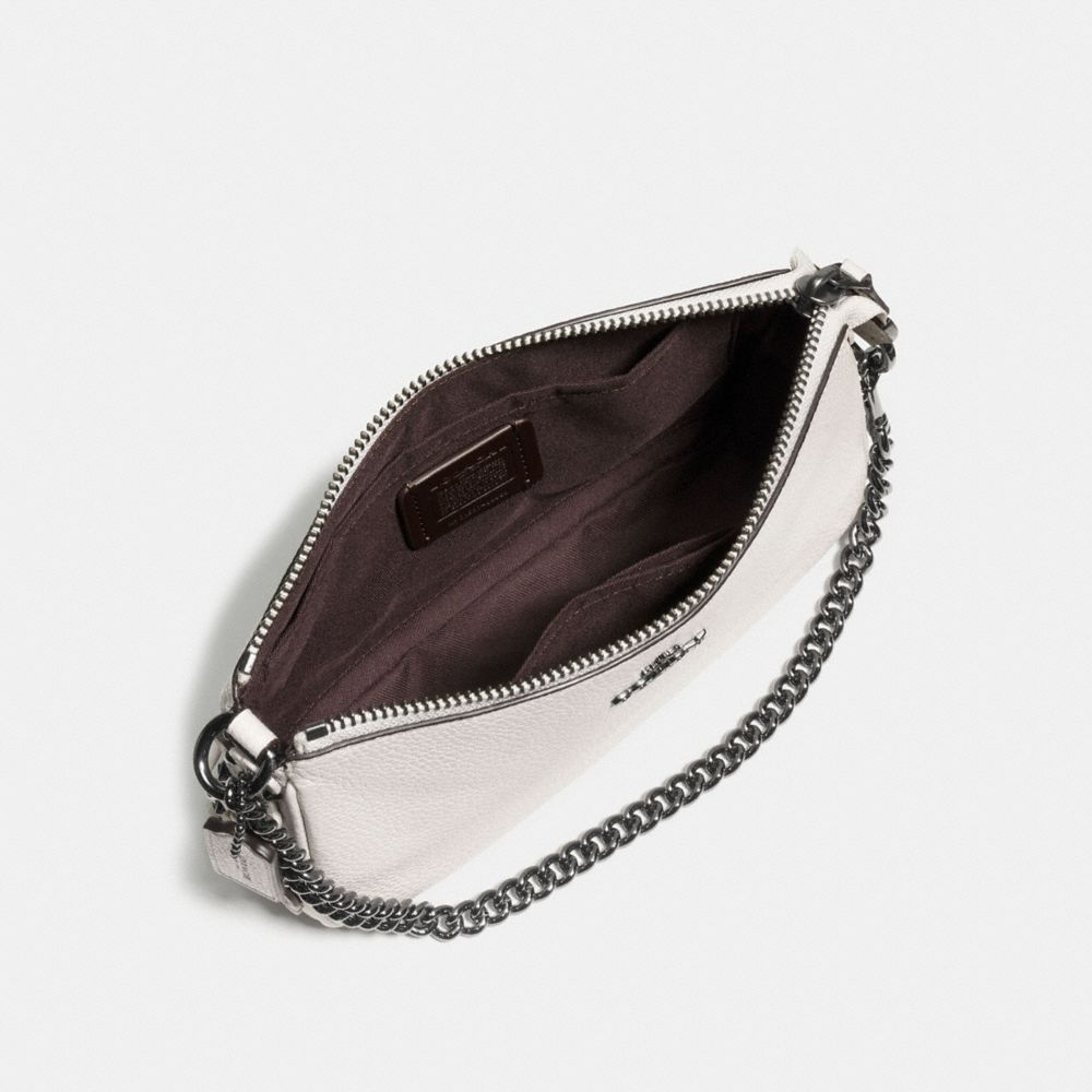 Nolita Wristlet 19 in Polished Pebble Leather With Willow Floral Detail - Alternate View A1