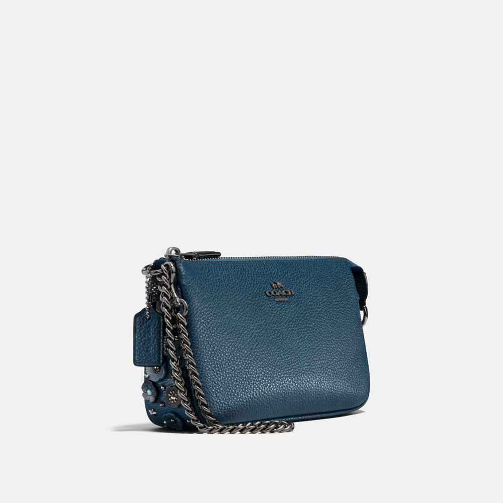 NOLITA WRISTLET 19 IN POLISHED PEBBLE LEATHER WITH WILLOW FLORAL DETAIL - Alternate View