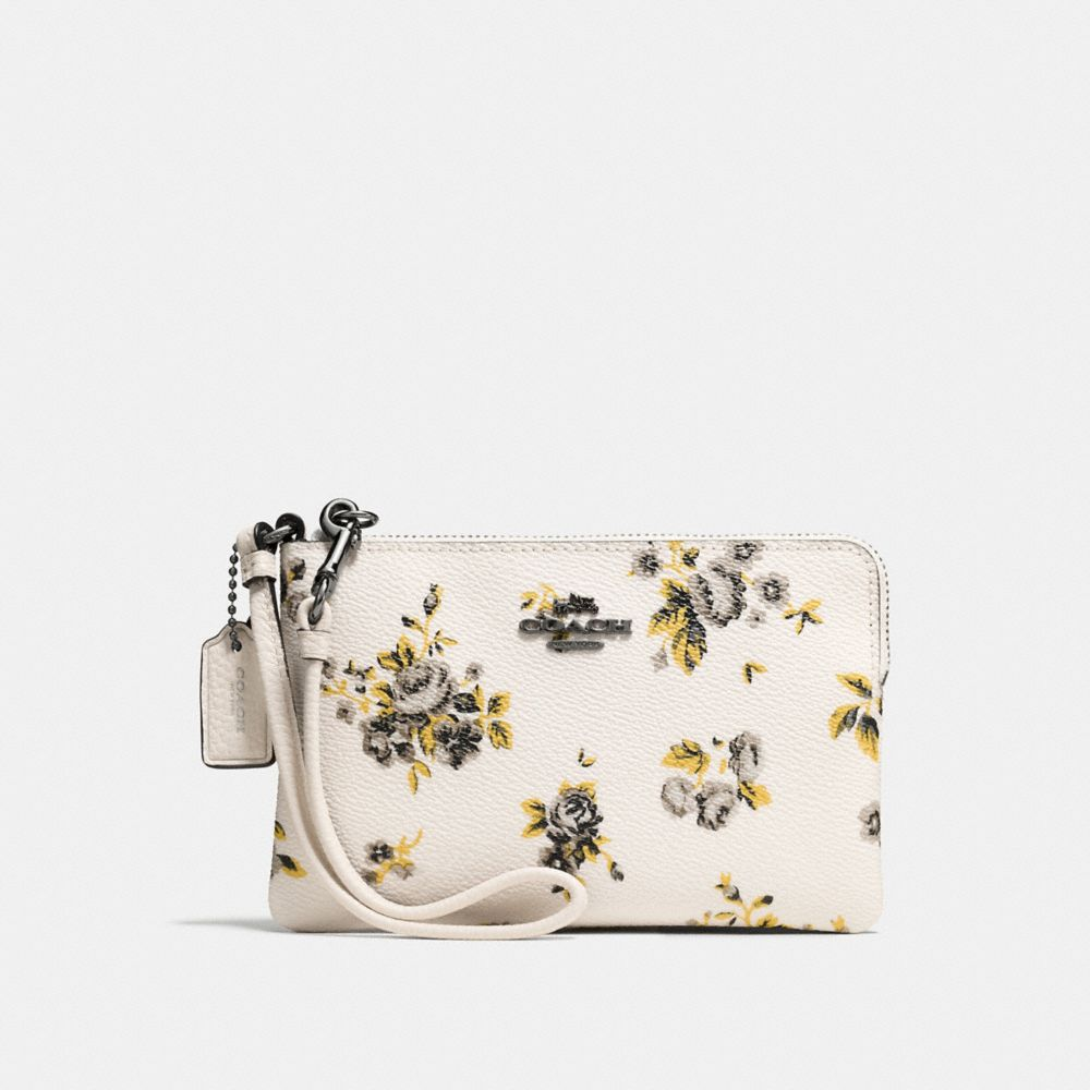 SMALL WRISTLET IN PRAIRIE PRINT COATED CANVAS